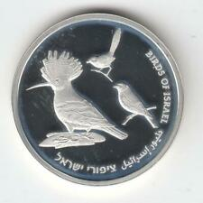 2009 61th Anniversary 1NIS Birds of Israel Proof-Like Coin 14.4g Silver, RARE
