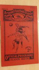 1933/34 FOOTBALL LEAGUE: Arsenal V. Huddersfield Town