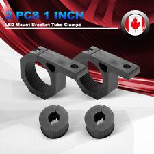 For 1inch Tube 2pcs Tube Clamps w/Rubber Insert LED Work Light Bar Mount Bracket
