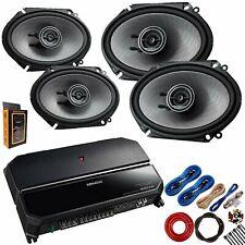Kenwood KAC-6407 550W 4-Channel Amplifier + 4 KFC-D681C 6x8