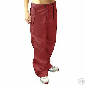 "Jungle Drawstring Parachute / Cargo Trousers Deep Red  Max Waist 34"" - NEW"