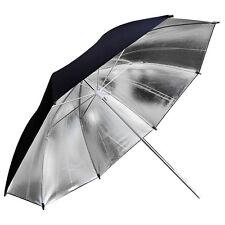 "2pcs 43""inch 110cm Studio Flash Light Lighting Reflector Umbrella Black & Silver"