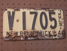 July 31 1941 NEW BRUNSWICK CANADA Vintage License Plate V-1705