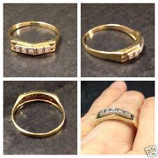 Diamantring Goldring 585er Gold Ring 14 kt GG + WG Gelbgold Diamanten 0,05 ct