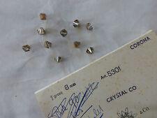 lot 10 perle toupie cristal de SWAROVSKI aurore boréale cristal co 8 mm  3 €
