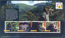 "UGANDA 2012 ""JANE GOODALL 50th ANNIVERSARY GOMBE"" GORILLA, MONKEYS SHEET PART II"