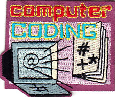 """""""COMPUTER CODING"""" - SCHOOL - RESEARCH - LEARNING - Iron On Embroidered Patch"""