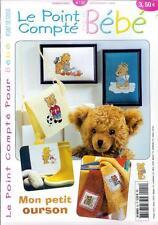 oop French cross stitch magazine Le Point Compte Bebe No.22 point de croix