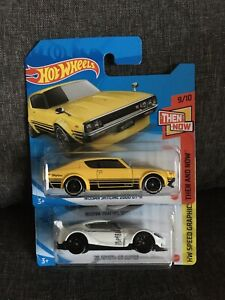 Hot Wheels Nissan Skyline 2000 GT-R & Toyota GR Supra 1:64 Scale Short Cards New