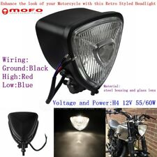 Free Shipping Motorcycle Lamp 55w H4 Chrome Retro Headlight For Harley Chopper Sportster Softail Old School Cafe Racer Xl Custom Home