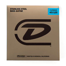 Dunlop DBFS45125 Flatwound Bass Guitar 5 Strings Set 45-125 Gauge String Set