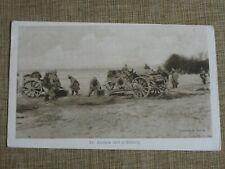 Original WWI Photo Postcard GERMAN FIELD ARTILLERY GUN CAISSON IN ACTION 149