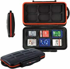 12x SD Memory Card Storage Case Holder Water Resistant Wallet SD Organiser Pouch