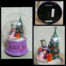 Disney Beauty And The Beast Snowglobe Dome Christmas Plastic Musical Swirl Belle