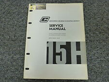 Commercial 15H Single & Tandem Oil Hydraulic Pump & Motor Service Repair Manual