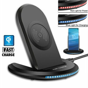 For iPhone 12 Pro Max 8 Plus XR XS Max | Qi Wireless Fast Charger Charging Dock