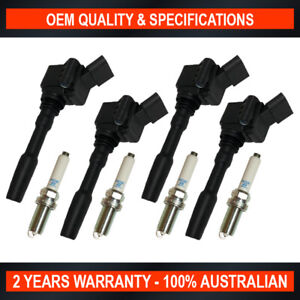 Swan Ignition Coil & NGK Spark Plug Pack for Audi A4 A5 A6 Q5 TFSI Quattro