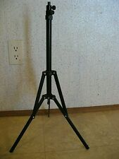 VINTAGE FLOOR LAMP/CAMERA TRIPOD/FULLY ADJUSTABLE/GOOD WORKING CONDITION.