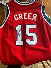 Hal Greer HOFer Autographed Philadephia 76ers Jersey inscription HOF-81 - JSA