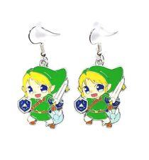 The Legend Of Zelda Link Character Dangle Hook Earrings - Ships Fast