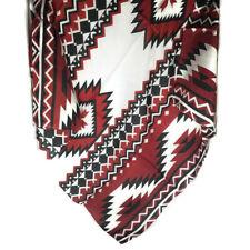 "Wyoming Traders Wild Rag Southwest Print Red / Black 100% Silk Scarf - 34.5"""