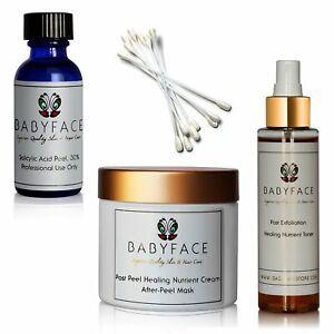 Babyface 30% Salicylic Acid Peel Kit, 44-Piece Complete Set At Home Use 20 Peels