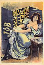 Art Deco Job cigarette rolling paper Colourful  Poster Print