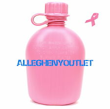 NEW US Military 1 Quart QT HARD PLASTIC CANTEEN ARMY Pink 1QT USGI BPA FREE