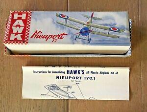 1952 Hawk Model Airplane Kit 1/40 WW1 Nieuport 17