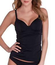Freya BLACK Remix Underwire Plunge Tankini Swim Top, US 38D