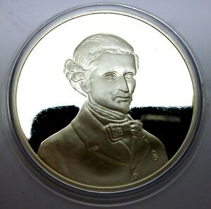 Italy 1976 Commemorative Silver Proof Medal Silvestro Lega realist painter (T59)