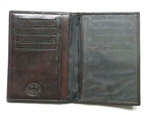 Wallet Vintage Leather ID CARD DARK BROWN 1980'S RETRO MOD LONDON MADE