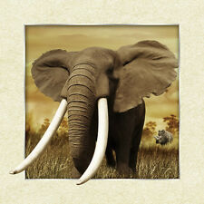 African Elephants Lenticular 3D Picture Animal Poster Painting Wall Art Decor