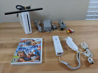 Nintendo Wii White Console Bundle RVL-001 Gamecube Compatible + Game