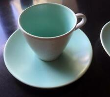 Unboxed Twintone Poole Pottery Cups & Saucers