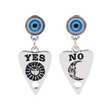"OUIJA MYSTIC EYE EARRINGS 1.5"" Yes No Planchette Occult Stainless Steel Posts"