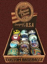 NYC 8 ball set. Times Square, Taxi, C Park, Big Apple, Liberty Souvenir Baseball