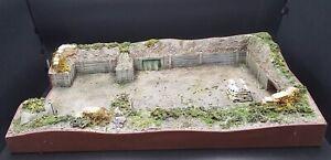 "DIORAMA  ""emplacement de tir d'artillerie WW2"" pour figurines 54-60mm   56x35 cm"