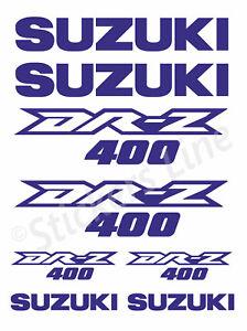 ADESIVI KIT SPONSOR tecnici MOTO SUZUKI DR-Z 400 sponsor carena DRZ 400