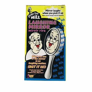 LAUGHING MIRROR Sound Activated Funny Over the Hill Clown Prop Look In