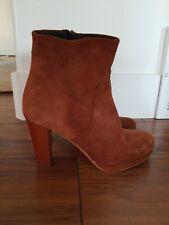 SUNDANCE Suede Leather Ankle Platform Boots Booties WOMENS SZ 7.5 EU 38 NWOB