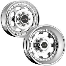 "Set of 4-17"" Inch Vision 181 Hauler Dually 8x170 Chrome Wheels Rims"