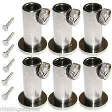 6 x STAINLESS STEEL STAGE STANDS FOR CARP FISHING PLATFORM BANKSTICK HOLDERS