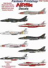 Airfile Hawker Hunter Twin Seater Decals, 1/72, 27 Options,  Fantasy Printshop