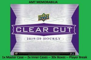 Connor McDavid Oilers 2019/20 19/20 UD Clear Cut 1X MASTER CASE 30X BOX BREAK #1