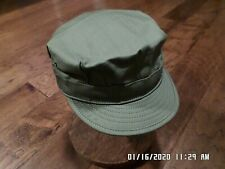 Wwii U.S Military Army Hat Reproduction Cap Hbt Material Od Green Size Large