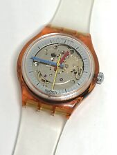 Swatch Jelly Fish GK100 1985 Watch RARE Tested Battery Clear Vintage