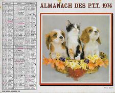 ALMANACH DES POSTES PTT 1974 Cartier Bresson Animaux Champignons 69 Rhône