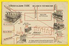 cpa Pub ATHLETOS Pharmacie ROUEN Plan BUCHER JEANNE d'ARC Place du vieux Marché