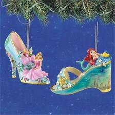 Disney Aurora & Ariel Once Upon A Slipper Ornament Collection #3 New
